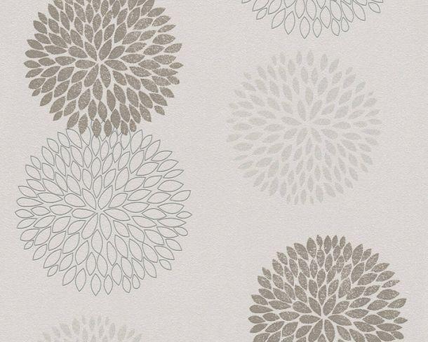 Tapete Vlies Kreise Floral beigegrau Glitzer 37264-3 online kaufen