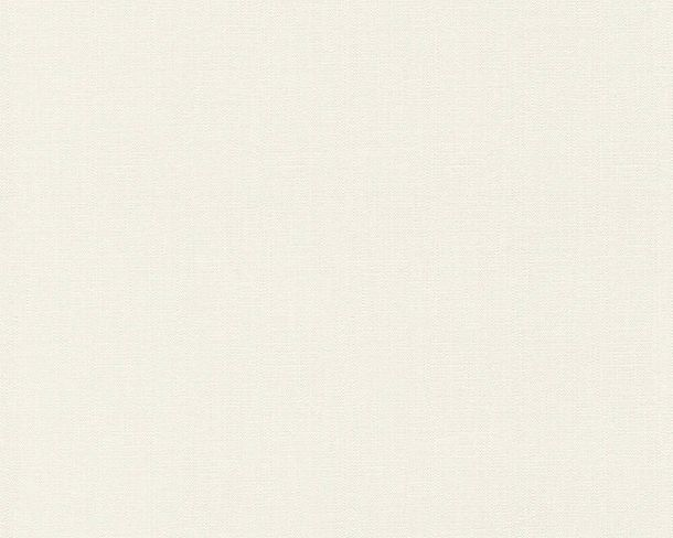 Tapete Vlies Struktur Einfarbig cremeweiß 37268-4