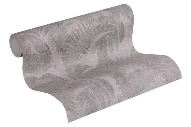 Wallpaper non-woven floral jungle grey black 37396-1 online kaufen