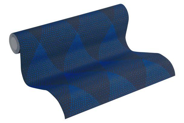 Tapete Vlies Rautenformen blau schwarz Glitzer 37419-1 online kaufen
