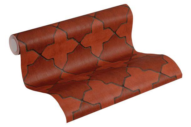 Tapete Vlies New Walls Fliesen rot grau schwarz 37421-1 online kaufen