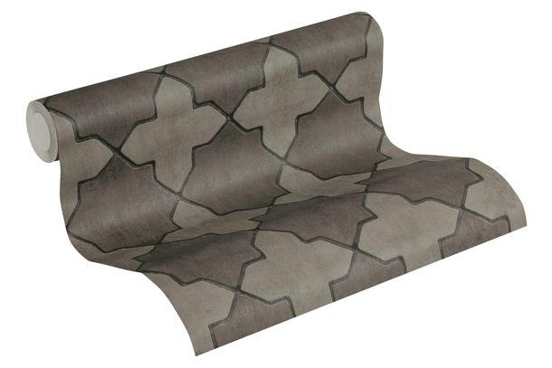 Tapete Vlies New Walls Fliesen grau schwarz 37421-3 online kaufen