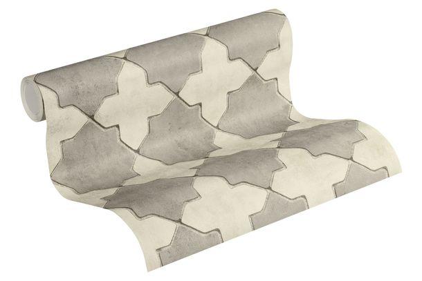 Tapete Vlies New Walls Fliesen creme grau 37421-5 online kaufen