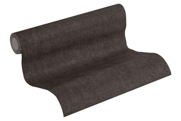 Tapete Vlies Struktur Einfarbig schwarz grau 37423-5