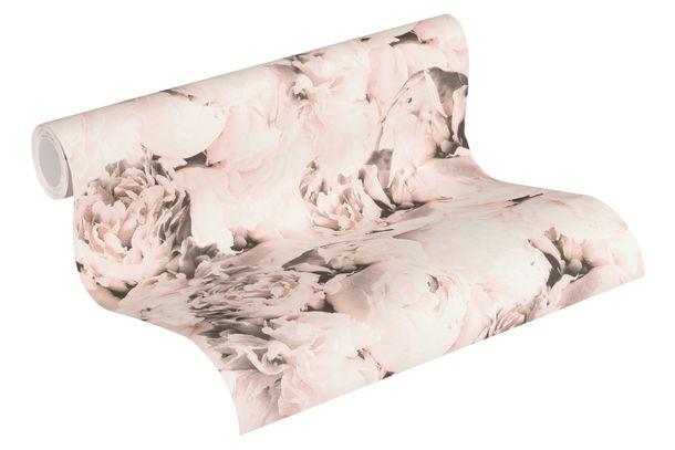 Tapete Vlies Neue Bude 37398-2 Rosenblüten hellrosa weiß  online kaufen