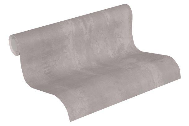 Tapete Vlies Neue Bude 37412-1 Einfarbig meliert grau  online kaufen
