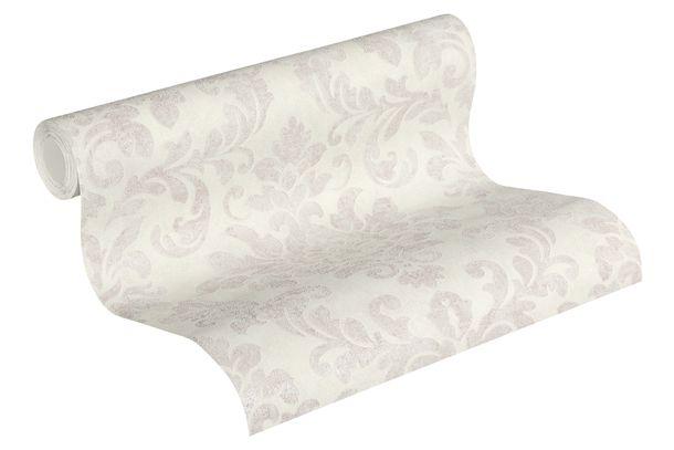 Tapete Vlies 37413-3 Barock-Design weiß-grau rosa  online kaufen