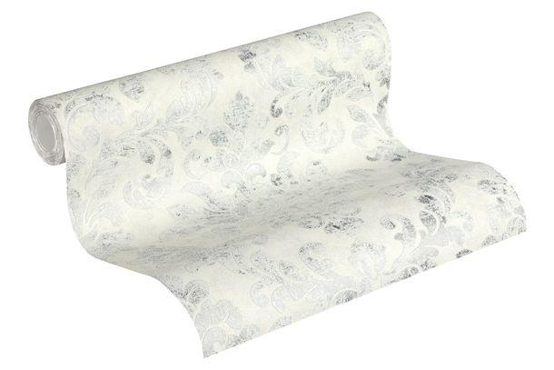 Tapete Vlies 37413-4 Barock-Design grau-weiß silber  online kaufen