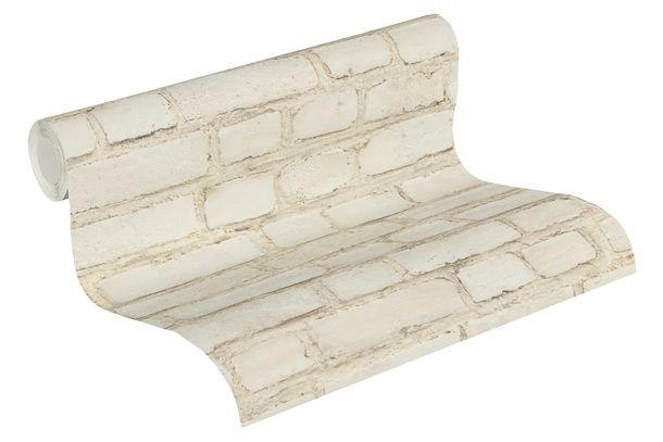 Non-woven Wallpaper 37414-1 stone wall beige grey  buy online