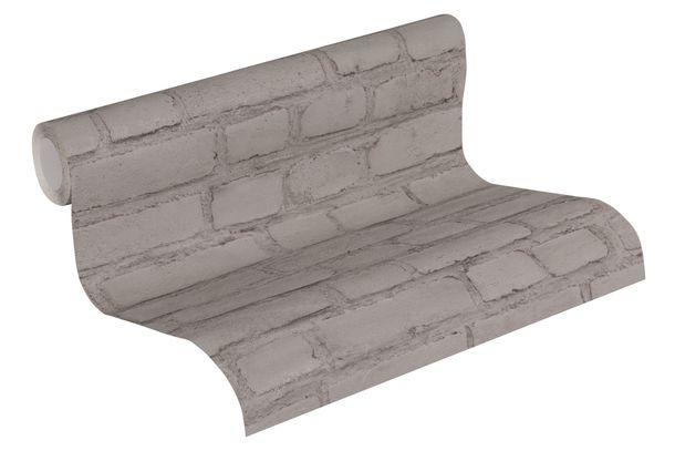 Tapete Vlies Neue Bude 37414-3 Steinmauer dunkelgrau  online kaufen
