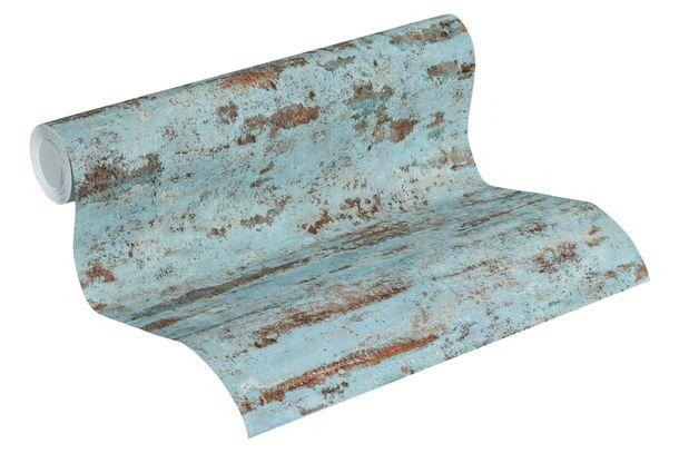 Tapete Vlies Neue Bude 37415-3 Mauer Vintage blau  online kaufen