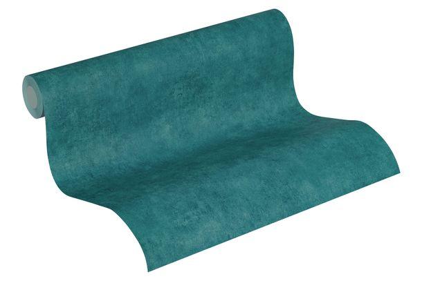 Tapete aus Vlies Einfarbig Beton blaugrün creme 37370-9 online kaufen