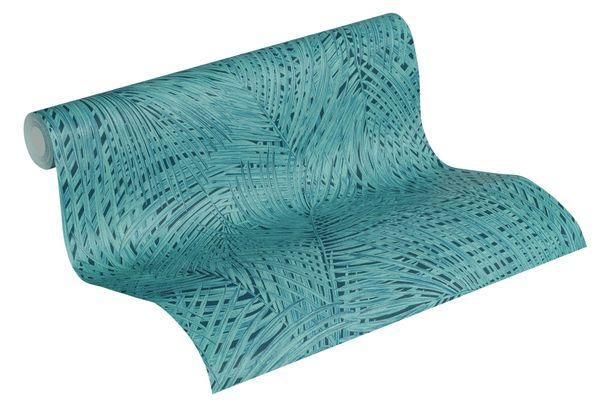 Tapete Vlies Dschungel schwarz blaugrün 37371-6 online kaufen