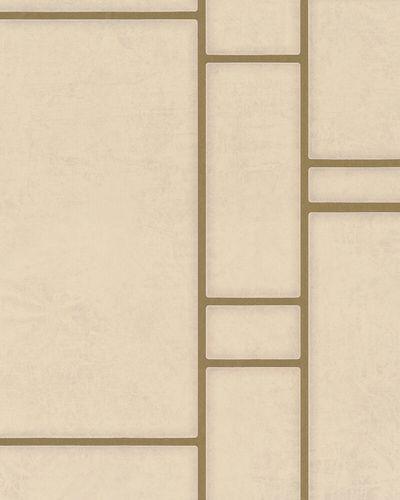Non-woven Wallpaper Tiles grey beige gold Metallic online kaufen