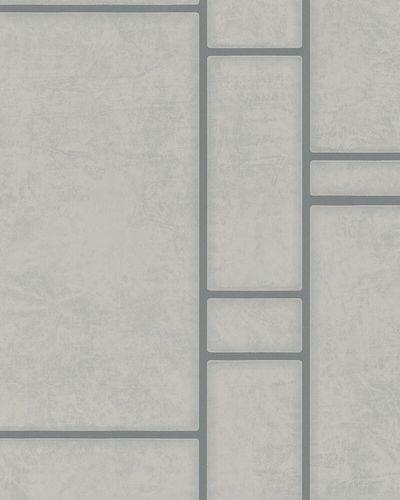 Non-woven Wallpaper Tiles taupe silver Metallic Marburg online kaufen