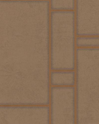 Non-woven Wallpaper Tiles brown gold Metallic Marburg online kaufen
