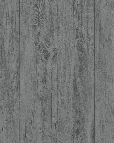 Tapete Vlies Holz-Paneele dunkelgrau Marburg 31765