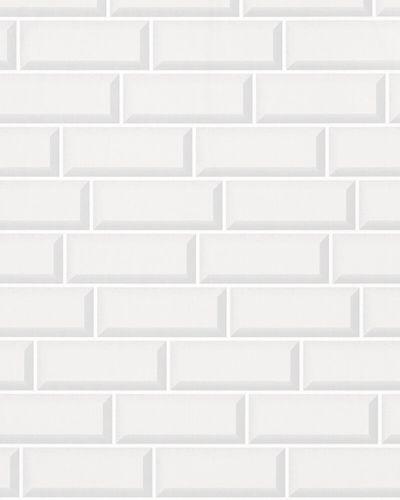Tapete Vlies American Diner Mauer weiß grau 31767