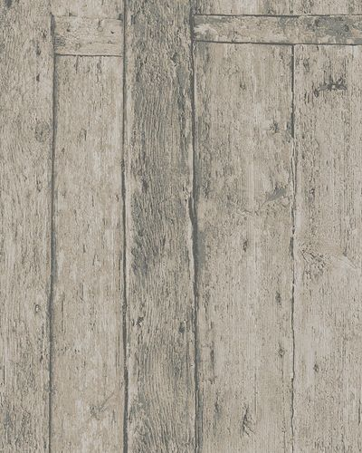 Non-woven Wallpaper Wood Panels brown cream 31771 buy online
