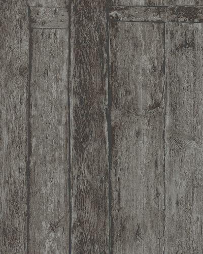 Tapete Vlies Holzpaneele dunkelbraun grau Marburg 31773