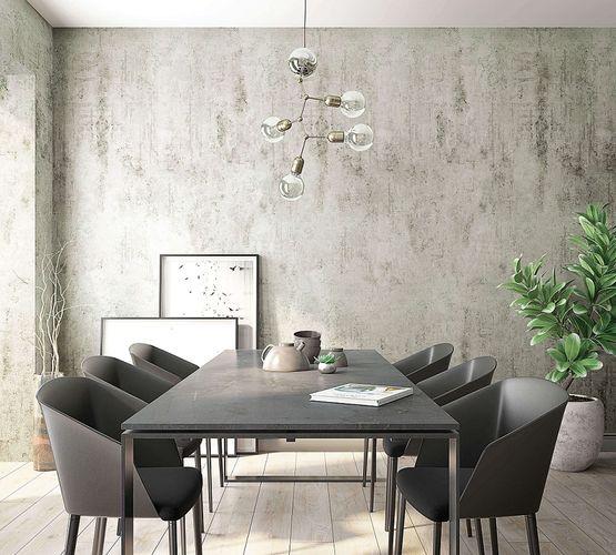 Tapete Vlies Beton-Optik grau hellblau Marburg 31777