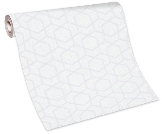 Tapete Vlies 10068-31 - Grafik weiß grau