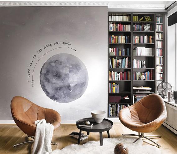 Fototapete Rasch Kruth Design Mond Schrift grau 100914 online kaufen