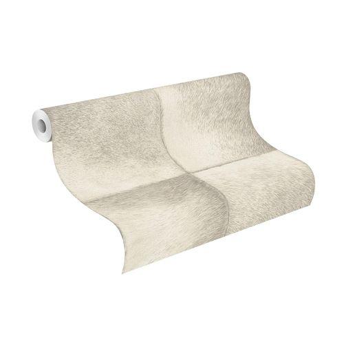 Tapete Vlies Rasch Fell-Optik Quadrate weiß grau 425901 online kaufen
