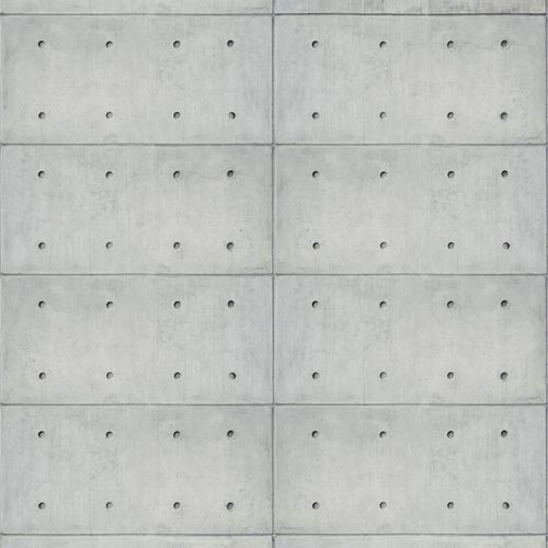 Photo wallpaper non-woven metal plates grey 425826 buy online