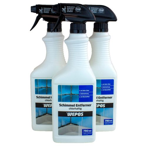 Wepos mould remover containing chlorine 750 ml