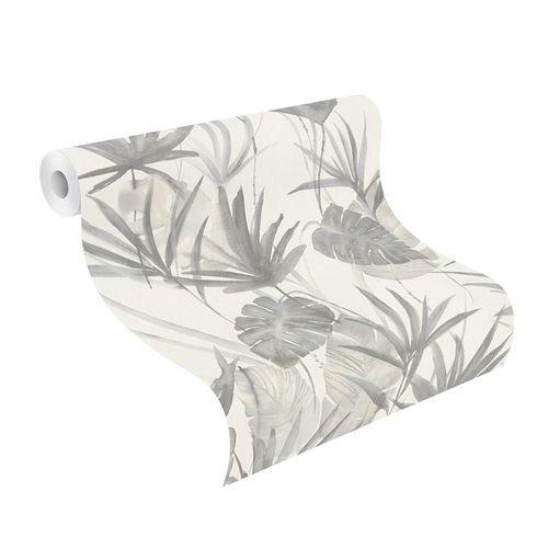 Barbara Home Non-woven Wallpaper Leaves grey 536416 online kaufen