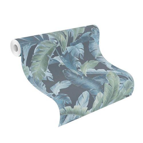 Barbara Home Vliestapete Blätterwald blau grün 536690 online kaufen