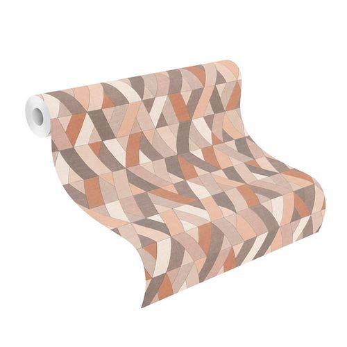 Barbara Home Non-woven Wallpaper Graphic pink brown 536737 online kaufen