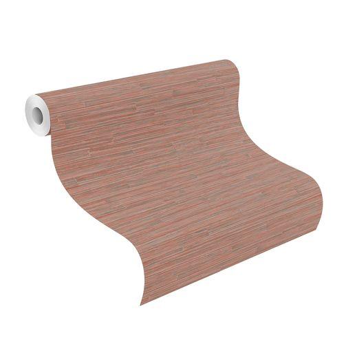Tapete Vlies Highlands Holz Design rot grau 550566