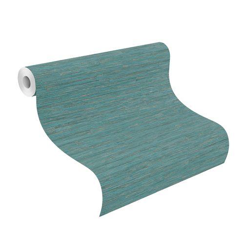 Tapete Vlies Highlands Holz Design blau silber 550573