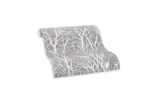 Tapete Selbstklebend grau silber Floral Äste 368232 online kaufen