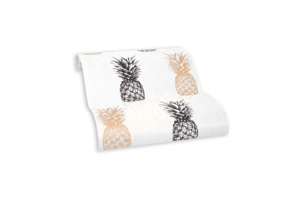Wallpaper self-adhesive white pineapple pattern 368271 online kaufen