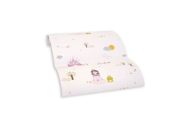 Wallpaper self-adhesive rose pink princess castle 368321 buy online