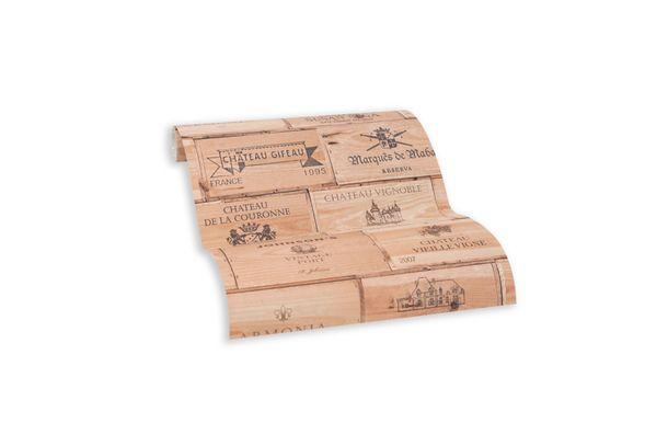 Tapete Selbstklebend braun schwarz Kisten Wein 368361 online kaufen