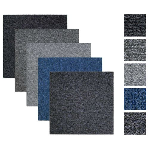Carpet tile Self-lying Rocket grey blue 50x50 cm