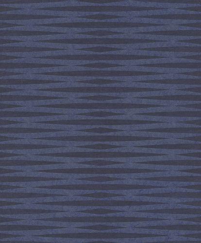 Tapete Vlies Rauten Grafisch blau Metallic 298696