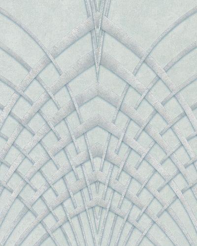 Non-Woven Wallpaper Art Deco grey green silver 32252 online kaufen