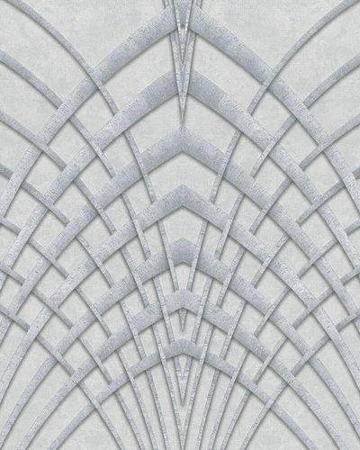 Tapete Vlies Art Deco hellgrau silber Marburg 32253 online kaufen