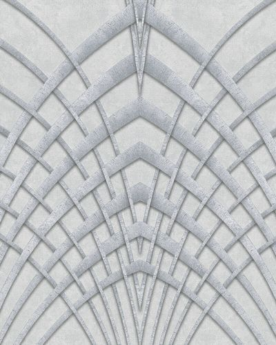 Tapete Vlies Art Deco hellgrau silber Marburg 32253