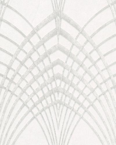 Tapete Vlies Art Deco grau-weiß silber Marburg 32277
