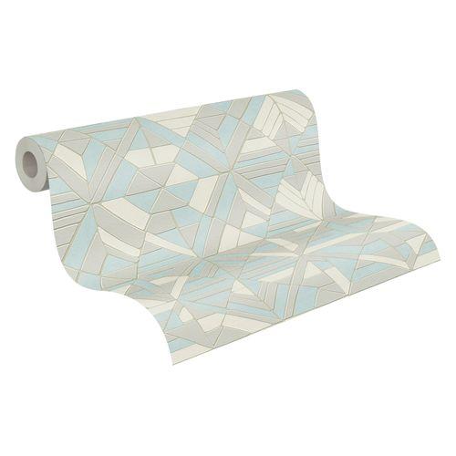 Tapete Vlies silber grafische Muster 37481-3   374813