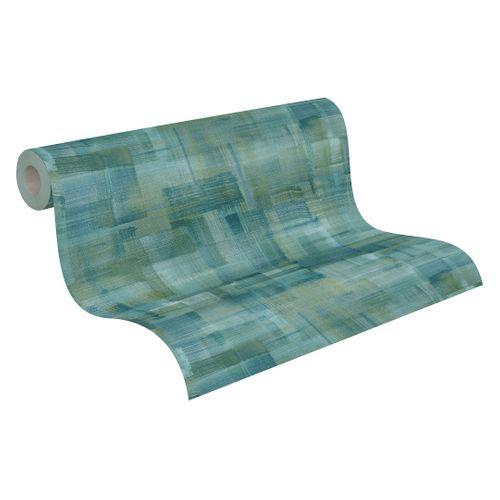 Tapete Vlies Pinselstriche grün blau 37532-1