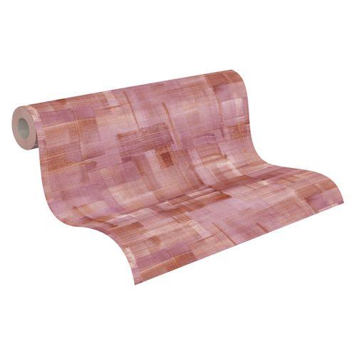 Tapete Vlies Pinselstriche rosa braun beige 37532-3 online kaufen