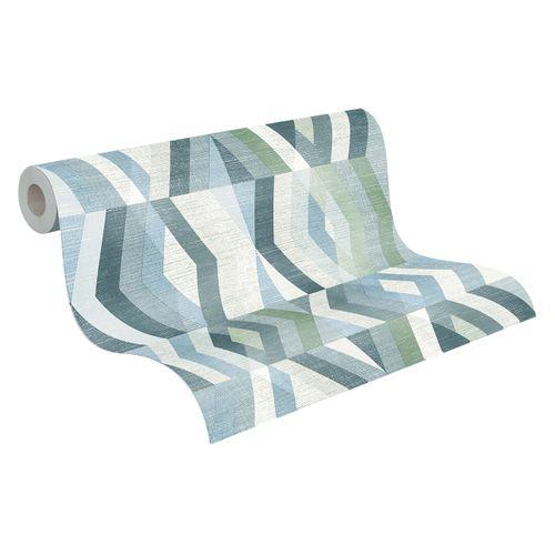Tapete Vlies Grafisch Rauten blau grau weiß 37533-2 online kaufen