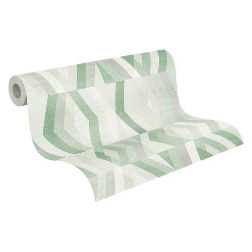 Tapete Vlies Grafisch Rauten grün grau weiß 37533-5 online kaufen